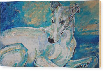 Whippet-effects Of Gravity 4 Wood Print by Derrick Higgins