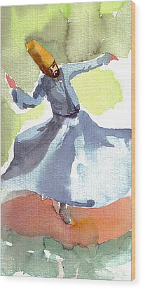 Whirling Dervish Wood Print by Faruk Koksal