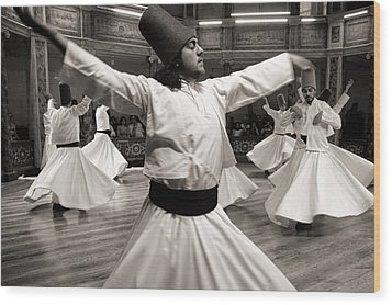 Whirling Dervishes Wood Print by For Ninety One Days