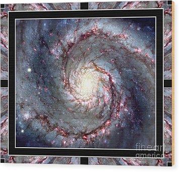 Whirlpool Galaxy Self Framed Wood Print by Rose Santuci-Sofranko