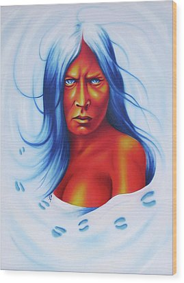 Whirlwind Woman Wood Print by Robert Martinez