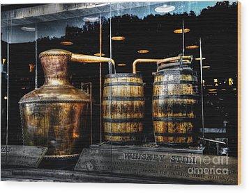 Whiskey Still On Main Street Wood Print