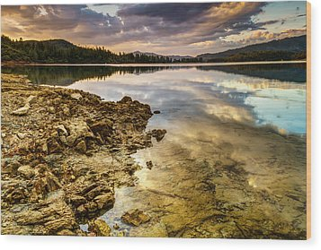 Whiskeytown Lake Reflections Wood Print by Randy Wood