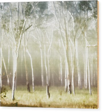 Whisper The Trees Wood Print by Holly Kempe