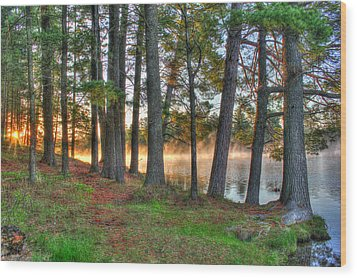 Whispering Pines Wood Print