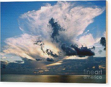 Whispers From The Heavens Off The Coast Of Louisiana Wood Print by Michael Hoard