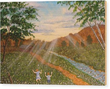 Whispers To God Wood Print by David Bentley