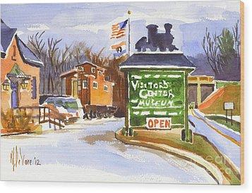 Whistle Junction In Ironton Missouri Wood Print by Kip DeVore