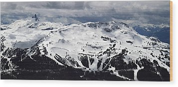 Whistler Mountain View From Blackcomb Wood Print by Pierre Leclerc Photography
