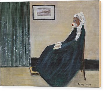 Wood Print featuring the painting Whistlin Mother by Randol Burns