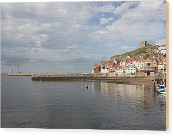 Wood Print featuring the photograph Whitby Abbey N.e Yorkshire by Jean Walker