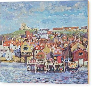 Whitby Wood Print by Martin Decent