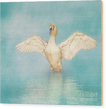 White Angel Wood Print by Hannes Cmarits