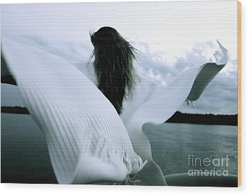 White Angel Wood Print
