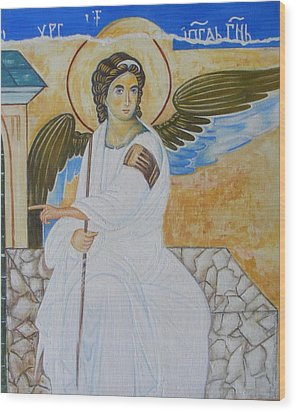 White Angel  Wood Print by Jovica Kostic