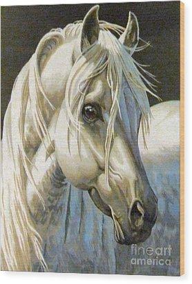 white Arabian Wood Print