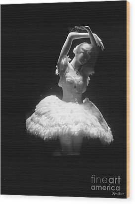 White Ballerina Wood Print by Lyric Lucas