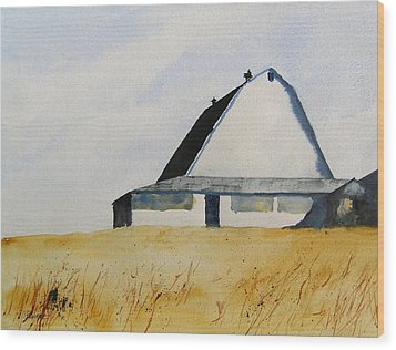 White Barn Wood Print by William Beaupre