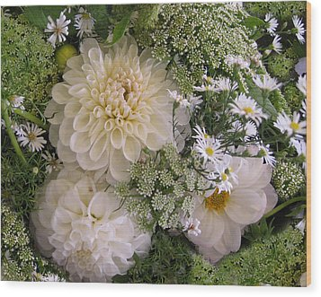 Wood Print featuring the photograph White Bouquet by Geraldine Alexander