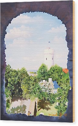 White Castle In Tallinn Estonia Wood Print