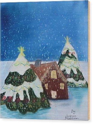 Christmasland Wood Print by Joshua Maddison