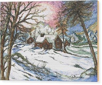 White Christmas Wood Print by Teresa White