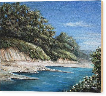 White Cliffs Wood Print by Danuta Bennett