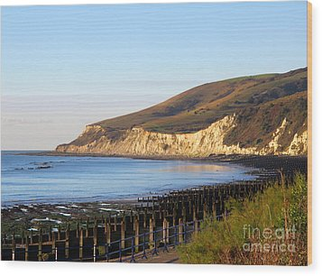 White Cliffs Of Eastbourne Beachy Head Wood Print by Art Photography