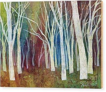 White Forest I Wood Print