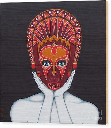 White Goddess Wood Print by Joseph Sonday