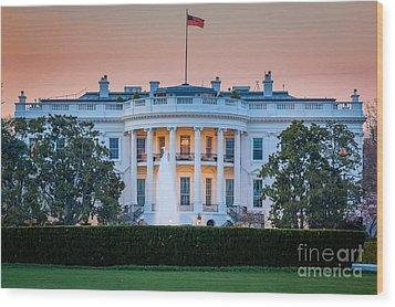 White House Wood Print by Inge Johnsson