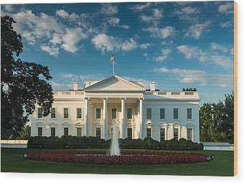 White House Sunrise Wood Print by Steve Gadomski