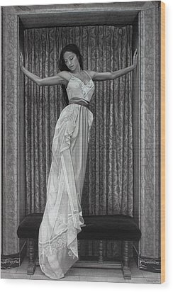 White Lace Wood Print by Tim Dangaran