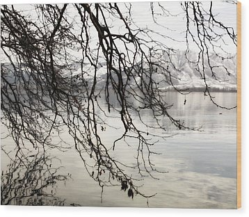 Wood Print featuring the photograph White Lake by Persephone Artworks