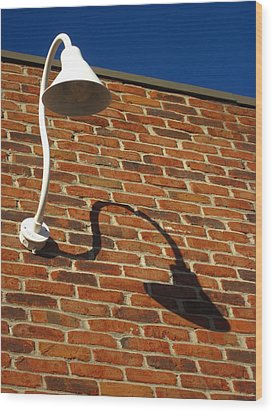 White Lamp With A Dark Secret Wood Print by Guy Ricketts