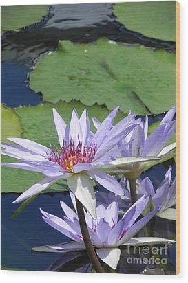 Wood Print featuring the photograph White Lilies by Chrisann Ellis