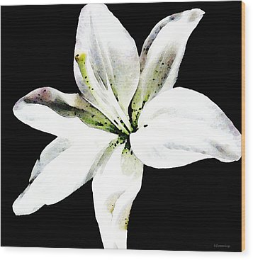 White Lily By Sharon Cummings Wood Print by William Patrick