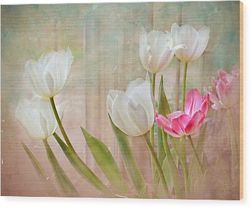 White Lily Show Wood Print by Bonnie Willis