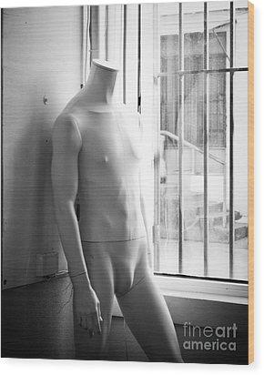 White Mannequin Wood Print by Sonja Quintero