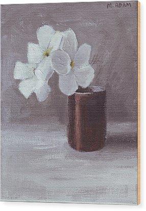 White Wood Print by Mary Adam