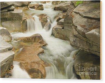 White Mountain Stream Wood Print by Alana Ranney