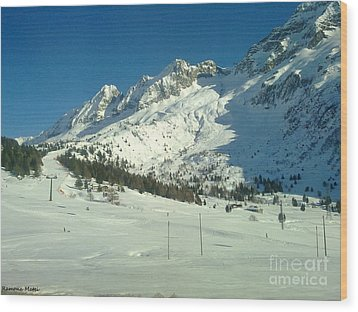 Wood Print featuring the photograph White Mountains by Ramona Matei
