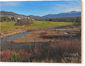 White Mountains Scenic Vista Wood Print by Catherine Reusch Daley