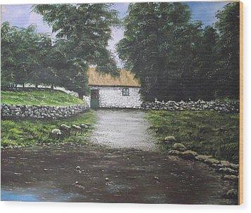 White O' Morn Cottage Wood Print by Robert Gary Chestnutt