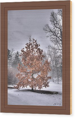 Wood Print featuring the digital art White Oak In Fog  Framed by Ed Cilley