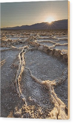 Wood Print featuring the photograph Death Valley - White Ocean by Francesco Emanuele Carucci