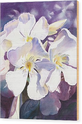 White Oleander Wood Print