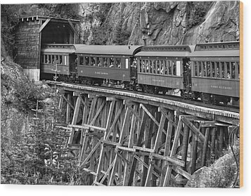 Wood Print featuring the photograph White Pass Railway by Dawn Currie