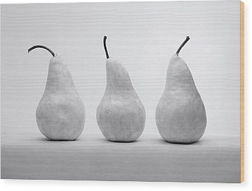 White Pears Wood Print by Krasimir Tolev