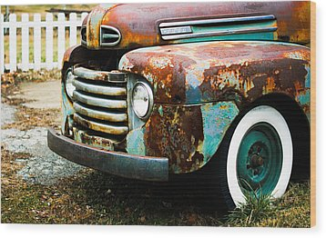 White Picket Dreams II Wood Print by Off The Beaten Path Photography - Andrew Alexander